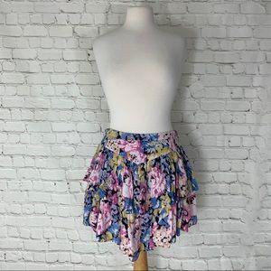 Urban Outfitters Kimchi Blue Floral Miniskirt Sz 6